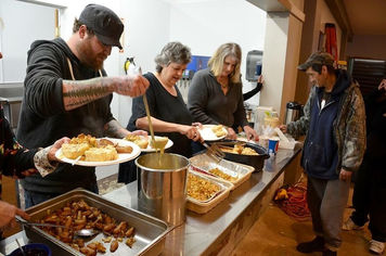 Church feeding the homeless