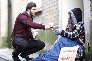 Love in Action engaging with the homeless on the streets