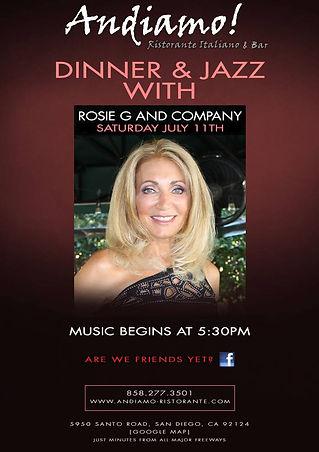 Rosie G & Co This Saturday At Andiamo!