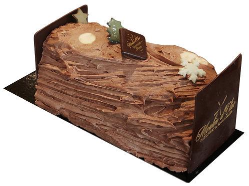 Bûche traditionnelle Chocolat 4 Personnes