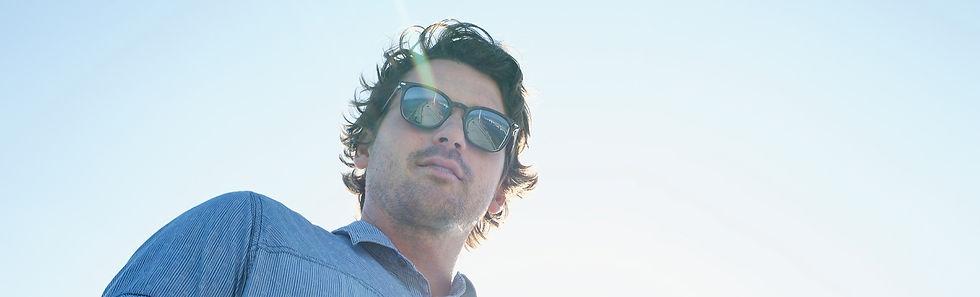 man wearing revo sunglasses