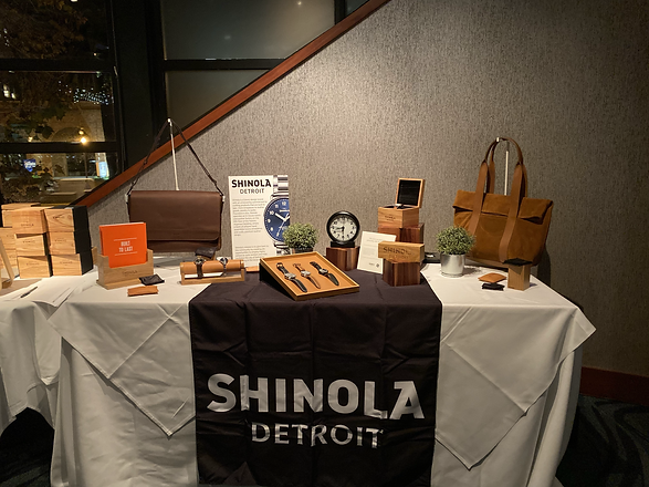 shinola watch display