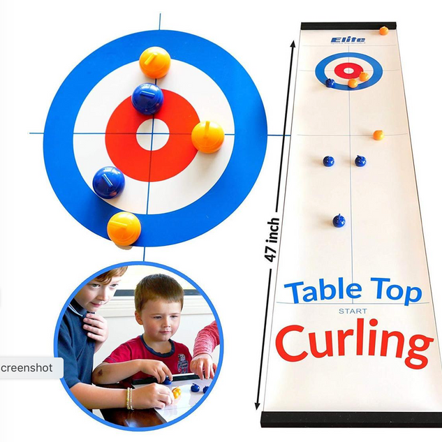 TableTop Bullseye Curling Game- $30