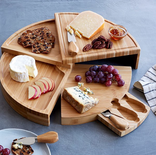 """13"""" Compact Swivel Cheese Board With Knives - $42"""