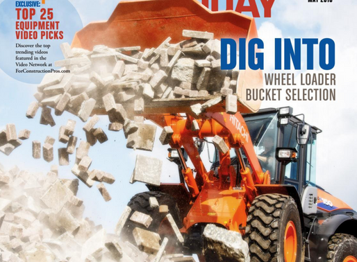Hitachi Loaders make cover of Equipment Today Magazine