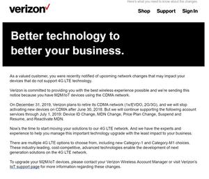 Verizon Announcement
