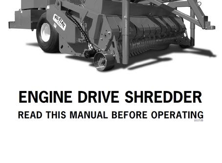 Rears Mfg Engine Drive Shredder Operator's Manual (2005 Model Year)