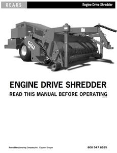 Rears Engine Drive Shredder Manual