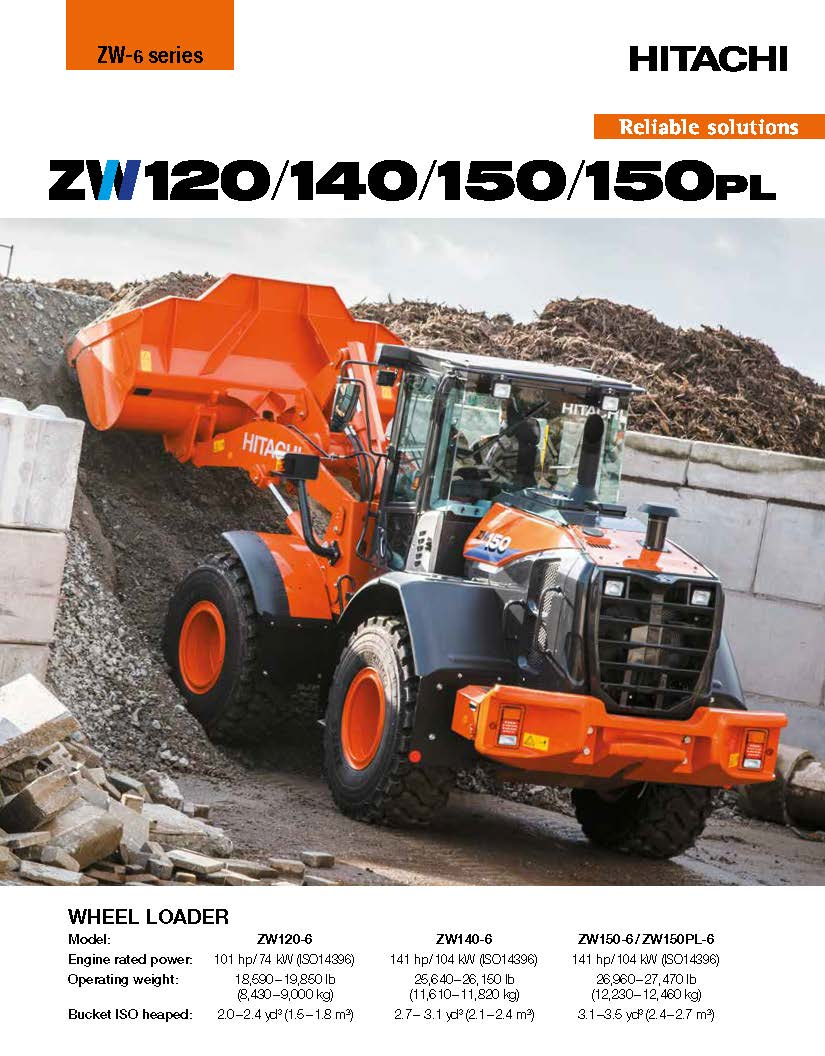 Hitachi ZW180 / 140 / 150 Brochure