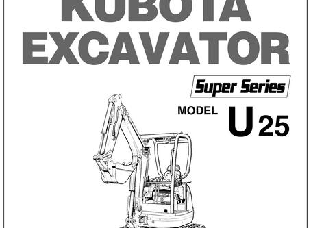 Kubota U25 - Super Series Operator's Manual