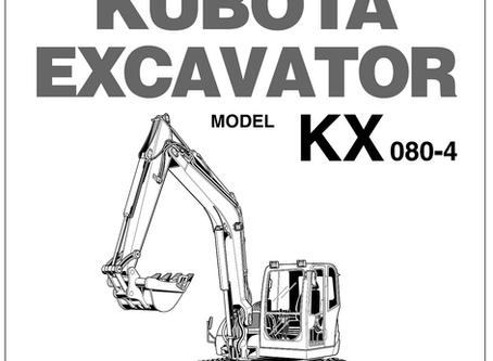 Kubota KX080-4 Operators Manual
