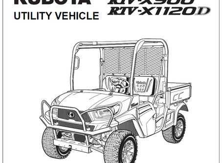 Kubota RTV-X900 and RTV-X1120D Operator's Manual