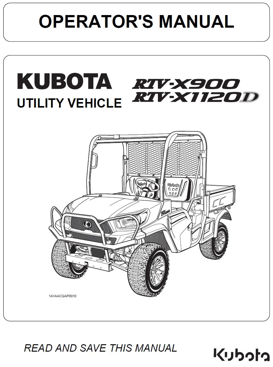 [DIAGRAM_38IS]  Kubota RTV-X900 and RTV-X1120D Operator's Manual | Kubota Rtv 1100 Fuse Box |  | Garton Tractor