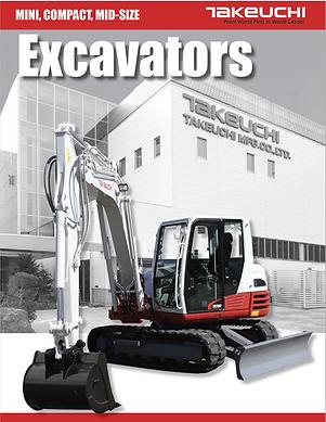 2018 Takeuci Excavator Full LineBrochure