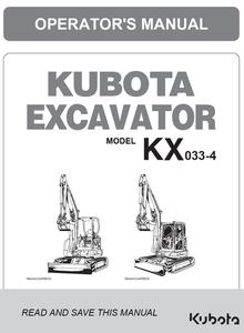 KX033-4 Operator's Manual