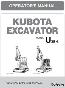 Kubota U35-4 Operators Manual