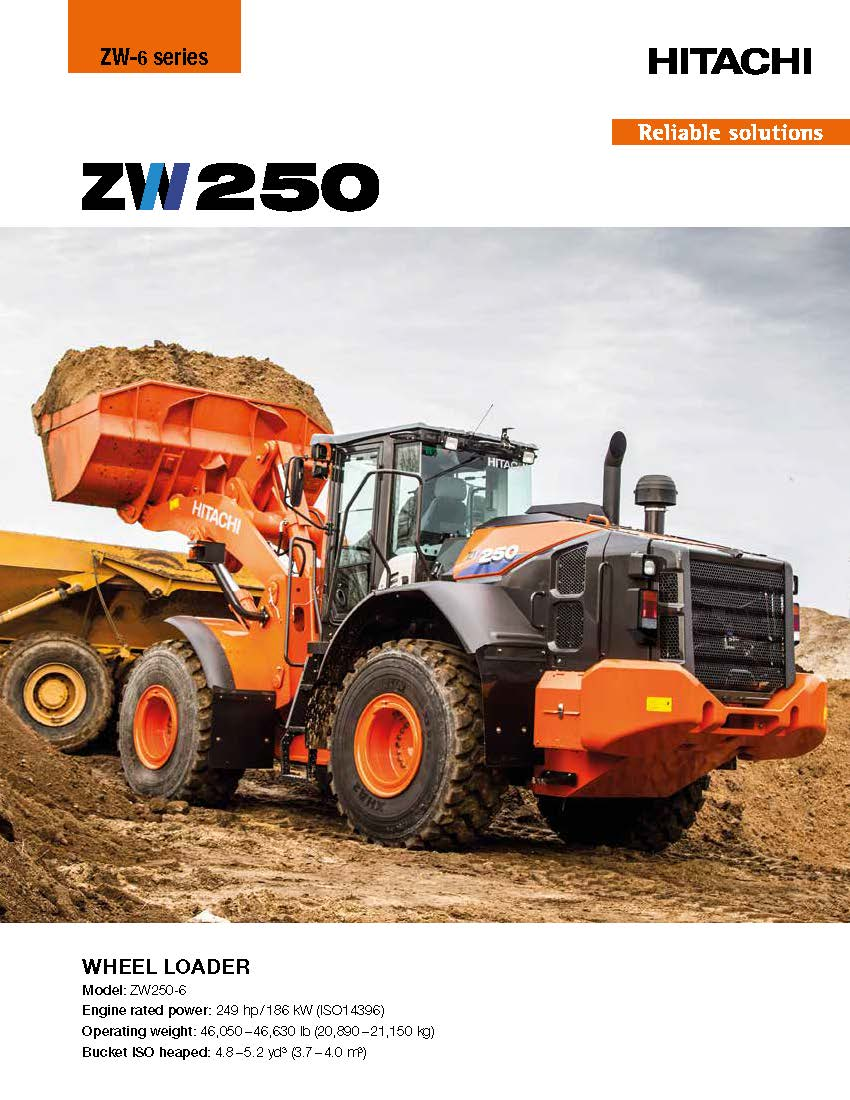 Hitachi Zw250-6 Wheel Loader