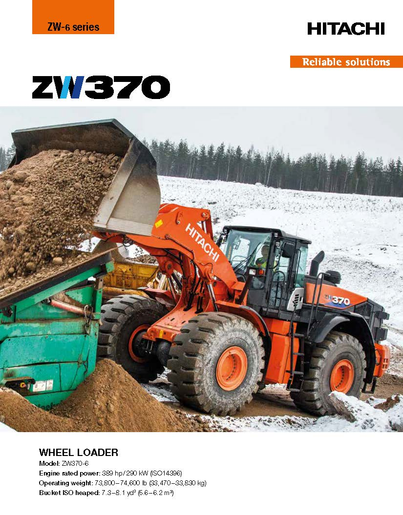 Hitachi ZW370-6 Wheel Loader