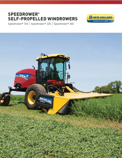 New Holland Windrower Brochure