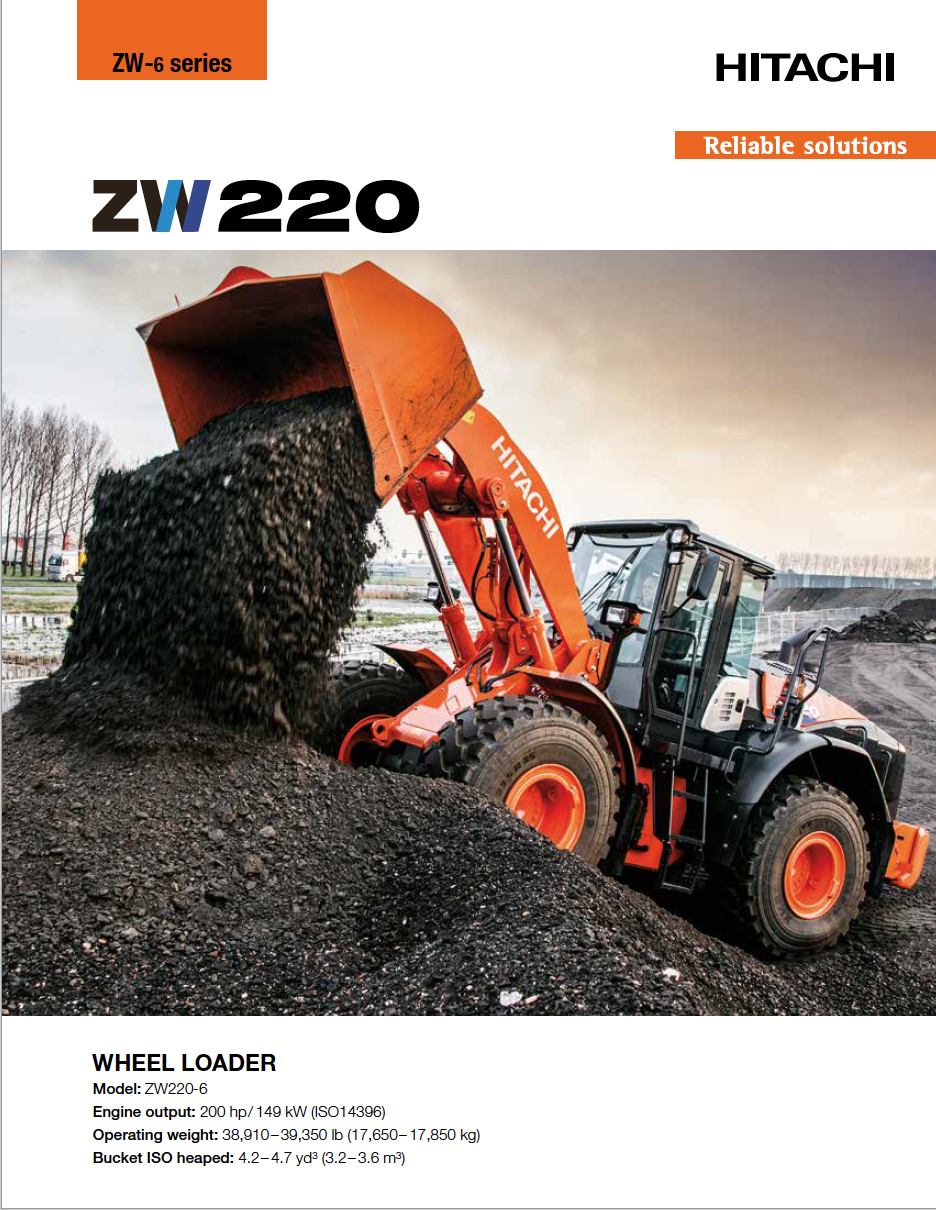Hitachi ZW220 Brochure