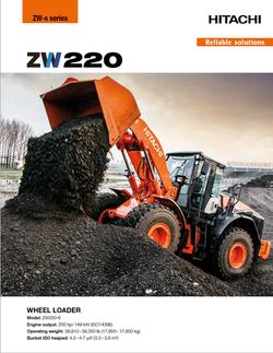 Hitachi ZW220 Brochure