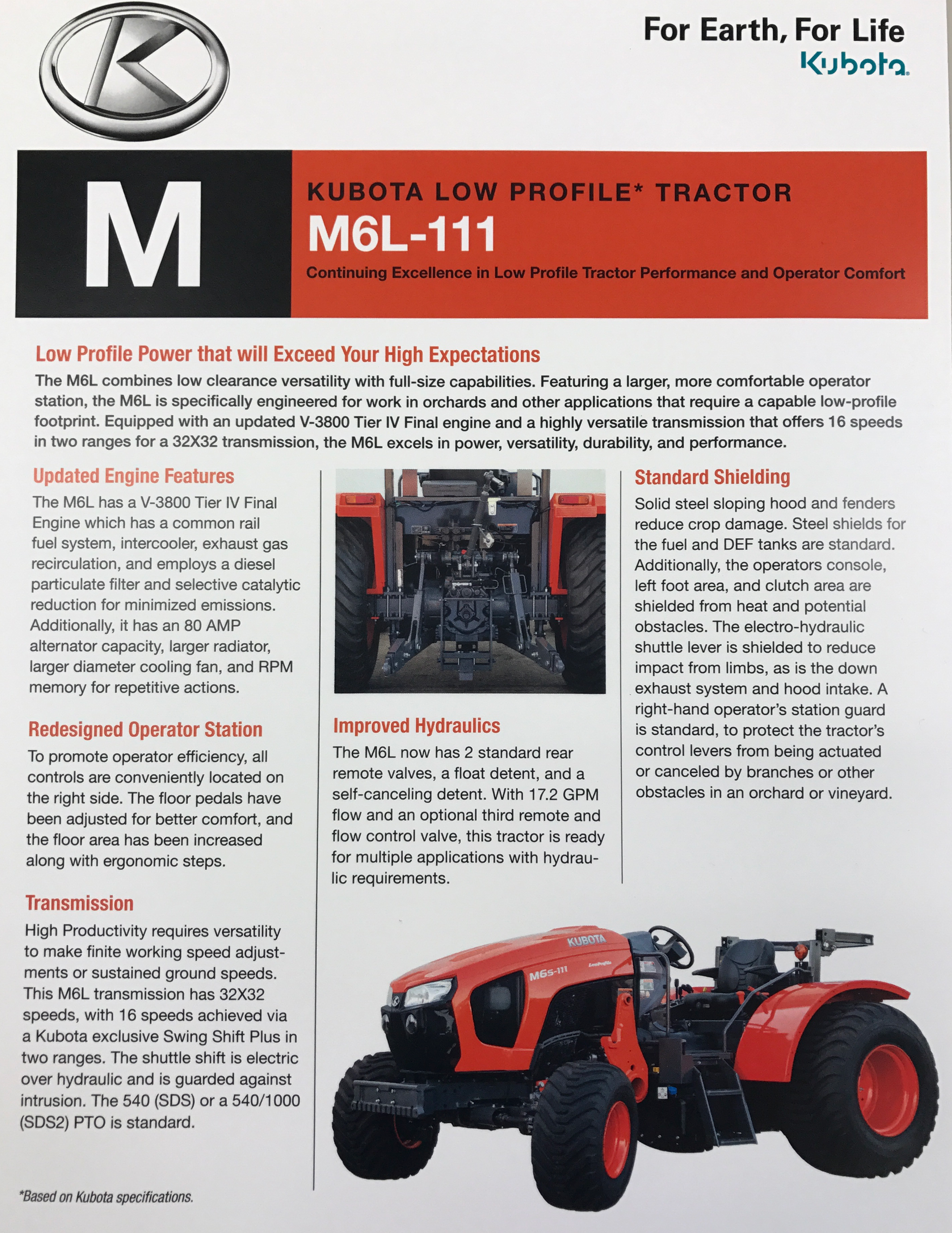 Introducing Kubota M6L-111 Low Profile Orchard Tractor | Garton Tractor |  California | Kubota & New Holland Tractors Equipment