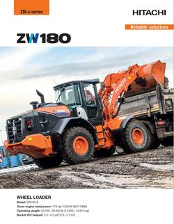 2018 Hitachi ZW180 Wheel Loader