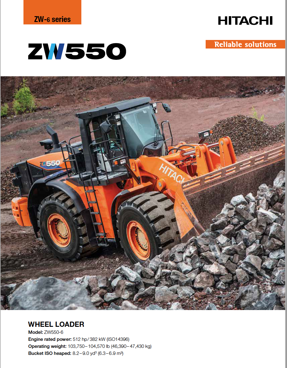 Hitachi ZW550 Brochure