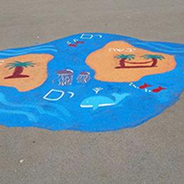 ציורי ריצפה לחצר ים יבשה