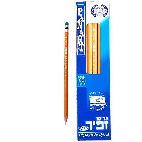 עפרונות עם מחק זפיר 12