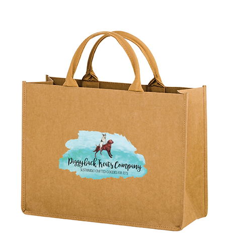 Piggybacker Pride Washable Kraft Paper Tote Bag