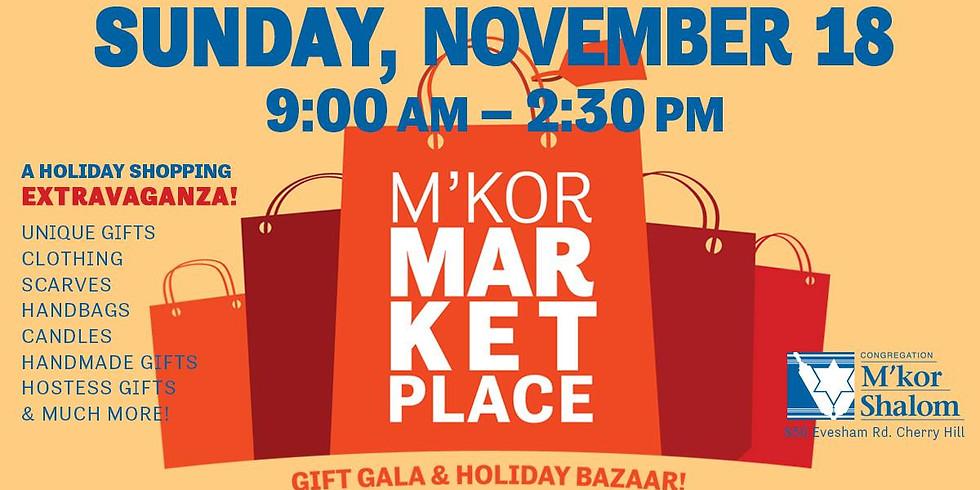 M'Kor Shalom Market Place Gift Gala and Holiday Bazaar