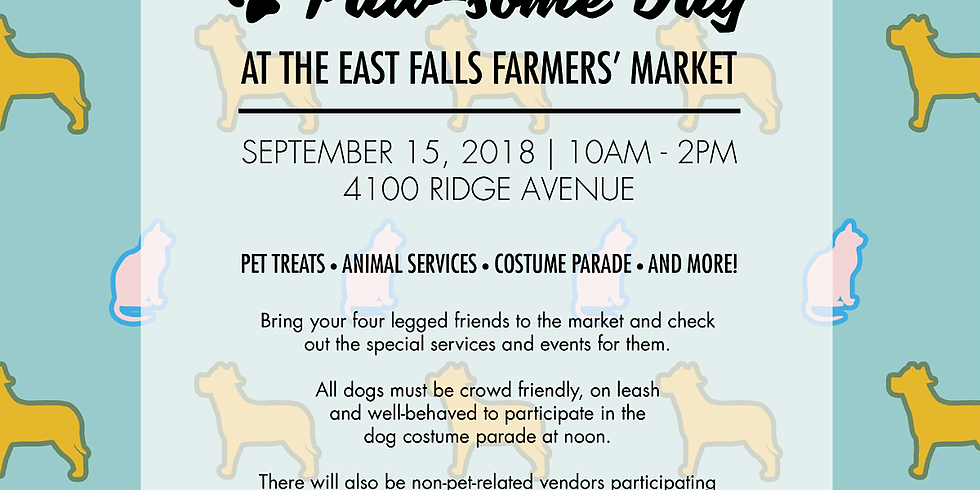 PAW-some Day at East Falls Farmer's Market
