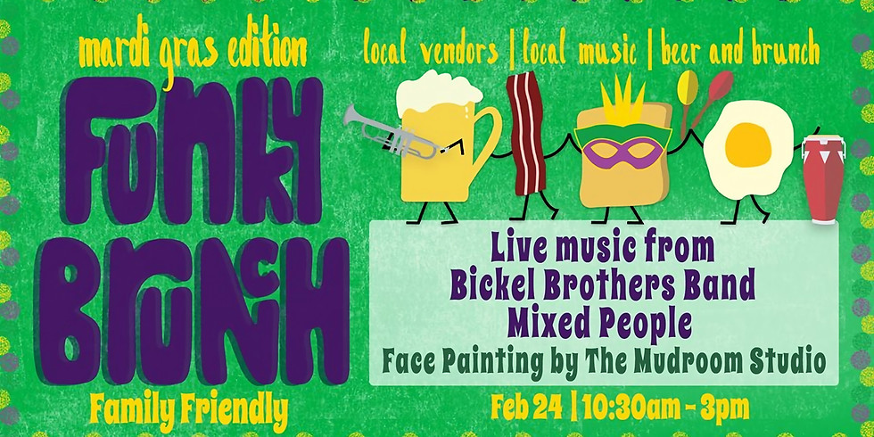 Funky Brunch & Market Mardi Gras Edition!