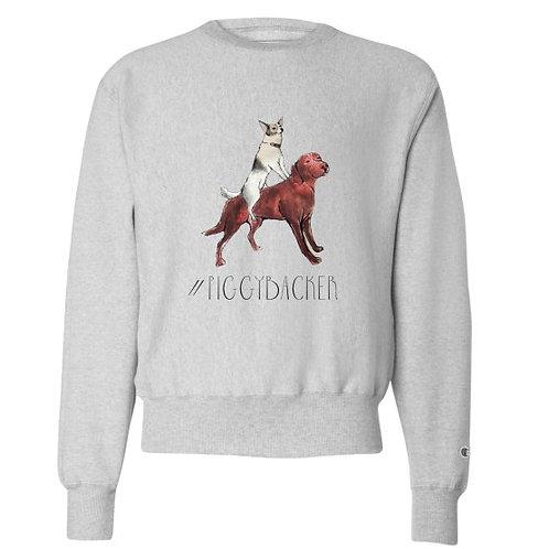 Men's #PIGGYBACKER Champion® Reverse Weave® Crewneck Sweatshirt