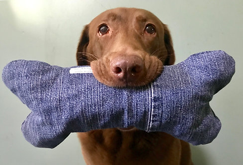 Soft Cruncher Rescued Denim Toy