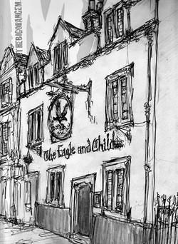 The Eagle & Child Inn.