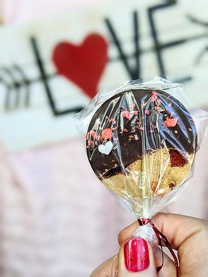 10 Dark Chocolate Dipped Lollipops