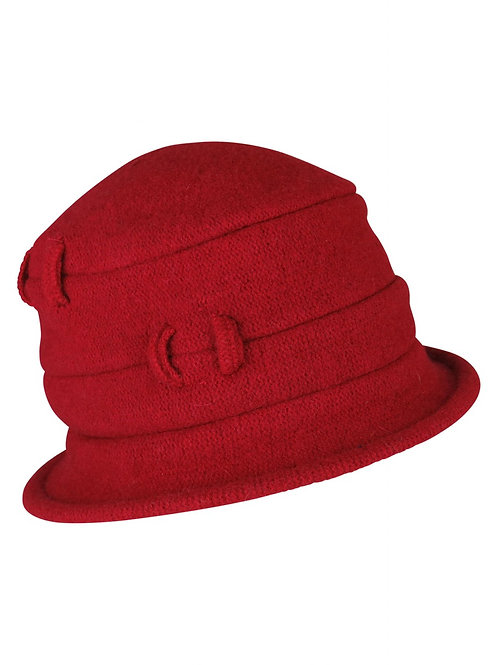 Fitted Winter Hat with Loop Details