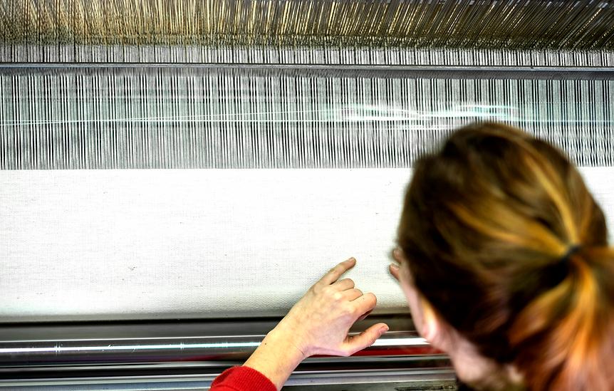 Origines tissages, tissage français sur métier à tisser mécanique