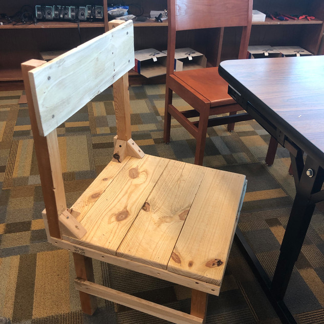 A group of students decided to create a chair, which took them around two weeks to make.