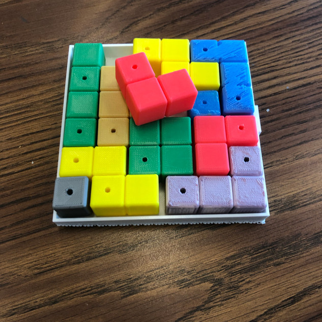 Cubed puzzle made with the 3D printer.