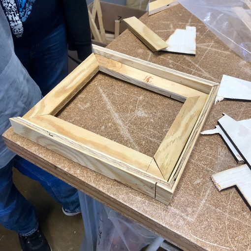 Students also worked on other projects, like these wooden picture frames.