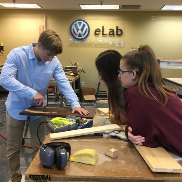 Students utilize the VW eLab tools to bring their designs to life.