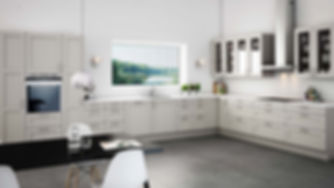Landkøkken i moderne stil