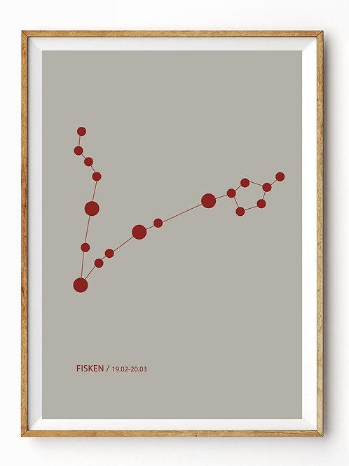Stjernetegnet FISKEN på plakat fra Plakatwerket
