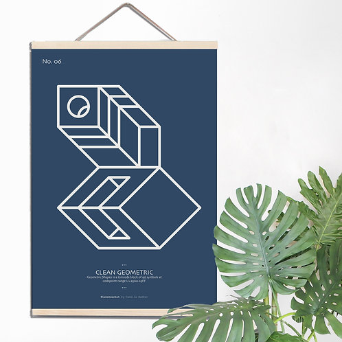 CLEAN geometrics / BLUE