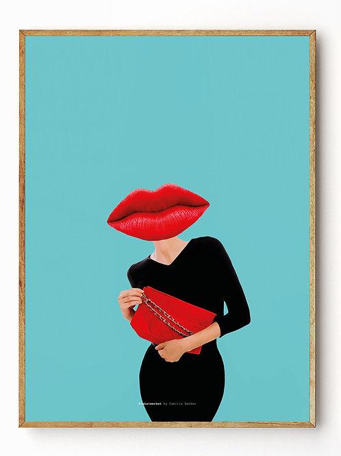 Classic lips blue