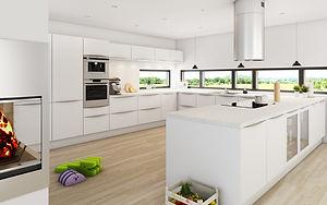Køkken med slidstærke lakerede fronter