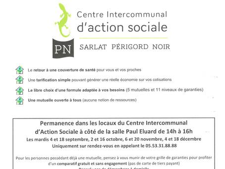 PORTAGES DES REPAS ET PERMANENCES ACTION SOCIALE